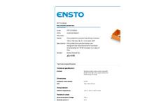 Ensto - Model FPT1515FE46 - Fire Protection Junction Box Brochure