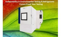 Free Webinar - Join US - Sustainability in Environmental Testing & Refrigerants - Future-Proof Your Testing