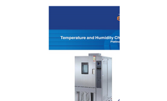 Espec - Model Platinous H-Series - Temperature and Humidity Chambers - Brochure