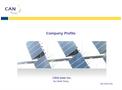 Can Solar Inc- Brochure