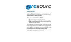 Re-source - Waste Environmental Policy Brochure