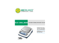 ABC - Model DLDpar - Digital Analytical Scale with Draught Shield Brochure