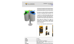 Eco-Isola - Model 50 lt. - Separated Waste Collection Three Bins Brochure