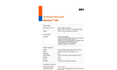 Multitec - Model 560 - Combined Gas Warning and Measuring Device Technical Datasheet