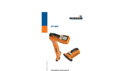 Model UT 830 - Reliable Pipe Location - Operating Instructions Manual
