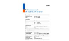 Model UT 9005 TX / UT 9012 TX - Underground Pipe Locating Device - Technical Datasheet