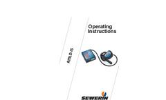 Sewerin - Model RMLD-IS - Methane Leak Detector - Operating Instructions Manual