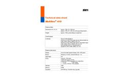 Multitec 410 - Multiple Gas Warning Device - Technical Datasheet
