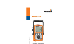 Multitec 410 - Multiple Gas Warning Device - Operating Instructions Manual