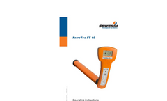 FerroTec FT 10 - Magnetometer for Locating Concealed Objects - Operating Instructions Manual