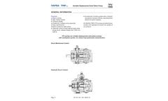 Hansa - Model TPV 1000 - Variable Displacement Closed Loop System - Axial Piston Pumps Brochure