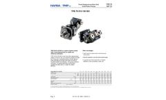 Hansa - Model TPB-TAP 70 - Fixed Displacement Bent Axis Axial Piston Pumps Brochure