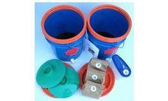 Bokashi - Food Scrap Fermenting System (Chevron Blue)