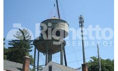 Installation of the new Glen Head water tank begins