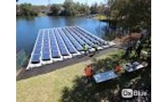 Hydrelio Floating PV installation - Orlando Utilities 32 kWp Video