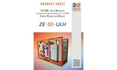 Model ZE 50 ULH - Energy Production Modules Brochure