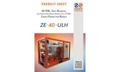 Model ZE 40 ULH - Energy Production Modules Brochure