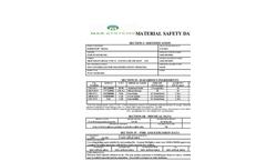 Sorbster - Water & Industrial Fluid Waste Streams Media MSDS Datasheet
