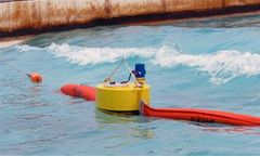 DESMI - Smart Boom - Oil Spill Containment Boom with the Boom Guard Monitoring Buoy