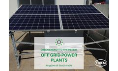 Green Energy to the desert with our off grid systems