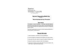 Nutrient Separating Baffle Box TM Service Instructions