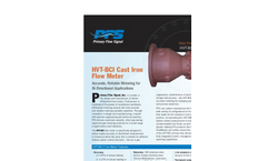 Model HVT-BCI - Cast Iron Flow Meter Brochure