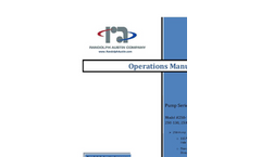 Randolph - Pump Series: 250 - Operations Manual
