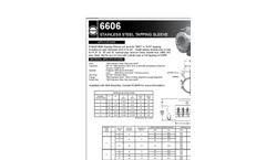 6606 - Stainless Steel Tapping Sleeve Datasheet