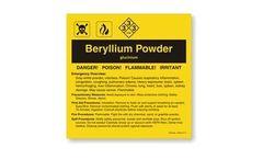 Beryllium Powder Label