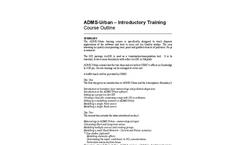 CERC - ADMS-Urban Introductory Training Course - Brochure
