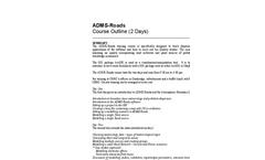 CERC - ADMS-Roads Standard Training Courses - Brochure
