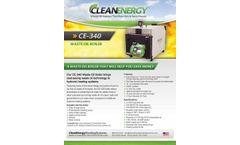 Clean-Energy - Model CE-340 - Waste Oil Boiler - Brochure