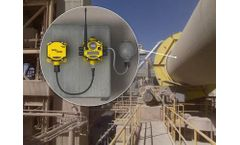 Temperature monitoring in a rotary kiln