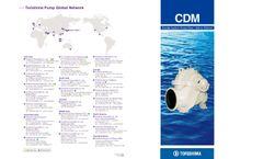 Torishima - Model CDM - Horizontal Axially Split Double-Suction Pump - Brochure