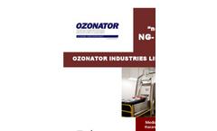 OZONATOR - Model NG-3000 - Medical and Bio-Hazard Waste Treatment Technology - Brochure