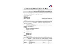 SDS – Aluminum Sulfate Solution 5% Acid MSDS