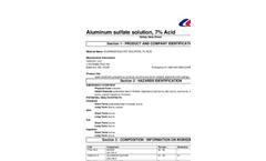 SDS – Aluminum Sulfate Solution 7% Acid MSDS