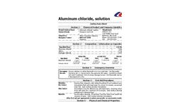 Aluminum Chloride MSDS
