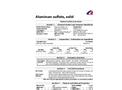 Aluminum Sulfate Solid - Technical Data Sheet