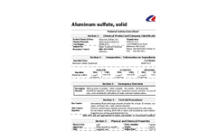 Aluminum Sulfate Solid - Technical Data Sheet