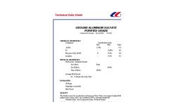 Purified Grade Aluminum Sulfate Datasheet