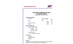 Low Iron Grade Aluminum Sulfate Datasheet