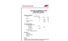 Iron Free Grade Aluminum Sulfate Datasheet