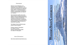 Western Snow Conference Brochure