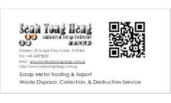 Seah Yong Heng Trading - Industrial Waste Collection, Disposal & Recycling Service
