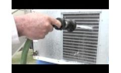 RYDALL CC Coil Cleaner - Cleaning a Refrigeration Unit Video
