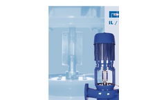 Model IS / IX Type - Vertical-In-Line Centrifugal Spacer Coupling Pumps Brochure
