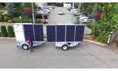 30ft Solar Trailers for Communications & Security - Video