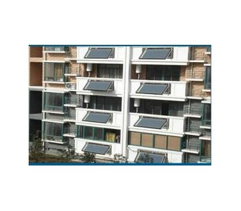 Balcony Flat Plate Split Solar Heater Collector