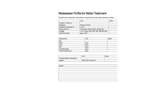 Waste Water Treatment Profile
